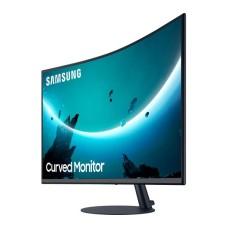 "SAMSUNG Full HD 27"" Curved LED Grey Monitor - LC27T550FDUXEN - 4MS/HDMI/VGA/DisplayPort"