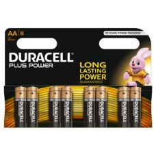 DURACELL Plus Power AA Alkaline Batteries - Pack of 8