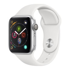 APPLE Watch Series 4 | Silver & White Sports Band | 40 mm