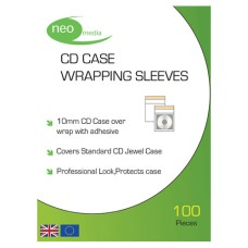 Neo Clear 14mm DVD Case Wrapping Sleeve 200 Pack