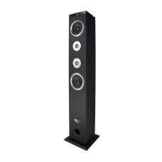 NEO XL TOWER SPEAKER (SILVER) WITH BLUETOOTH REMOTE AND FM RADIO