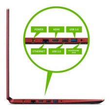 GradeB - ACER Aspire 3 15.6in Red Laptop - Intel i3-1005G1 8GB RAM 1TB HDD - Windows 10