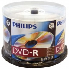 Philips DVD-R Branded Media 4.7GB 16x  Cake Spindle  - 50 Pack - DM4S6B50F