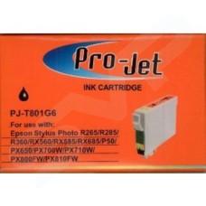 Pro-Jet Compatible Epson T0801 Black C13T08014010 Inkjet T801