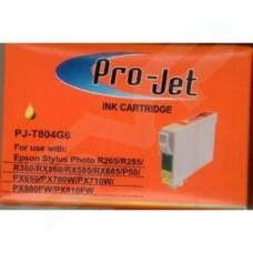 Pro-Jet Compatible Epson T0804 Yellow C13T08044010 Inkjet T804