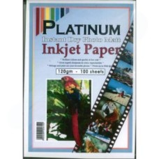 Platinum A4 Matt Inket Photo Paper 120GSM 100 Sheets