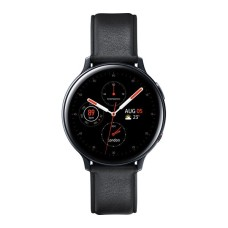 SAMSUNG Black Galaxy Watch Active2 4G - Leather & Stainless Steel | 40 mm