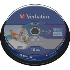 Verbatim Blu Ray  25GB  10pk print 6x 43804