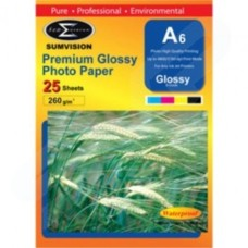 Sumvision A6 6x4 260gsm Gloss Inkjet Photo Paper 25 Pack