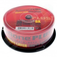 Aone Full Face Printable 8x Dual Layer 8.5GB DVD+R DL in Tub of 25 - New UMECODE