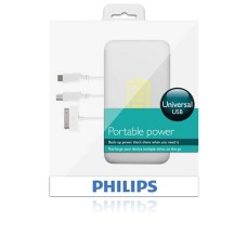 Philips Universal Portable USB Power Station - DLM2262/10 iPhone, Ipod Mini Usb 3000 mAh