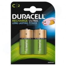 Duracell Rechargeable C Size HR14 DC1400 Batteries - Pack of 2
