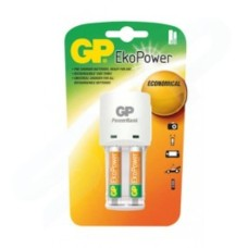 GP Batteries Ekopower Ni-mh Battery Charger With 2x AA Rechargeable Batteries