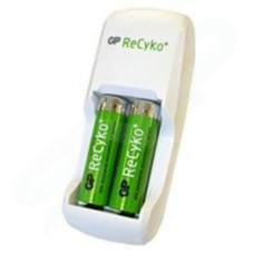 GP Batteries ReCyko+ Battery Charger With 2 X AA ReCyko+ NiMH Rechargeable Batteries