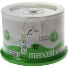 Maxell 16X Full Face White Inkjet Printable DVD+R 50 Cake Pack