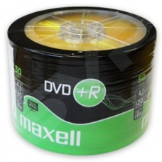 Maxell 16x Branded DVD+R 4.7GB 120Min in Packs of 50 Shrink