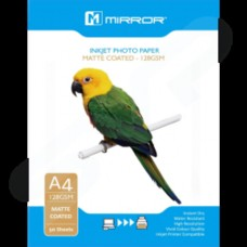 Mirror Eco A4 128gsm Matt Coated Inkjet Photo Paper 50 Pack