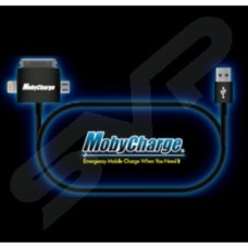 Mobycharge Mobile Phone Charging & Data lead 3 in 1 USB Straight