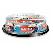 Philips DVD+R DL Dual Layer discs 1-8x 240min 8.5GB