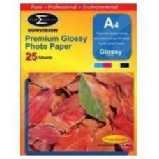 Sumvision 135gsm Premium Glossy A4 Photo Paper 25 Pack