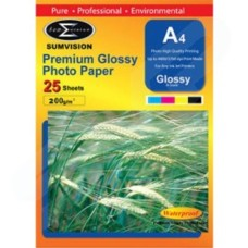 Sumvision 200gsm Premium Glossy A4 Photo Paper 25 Pack