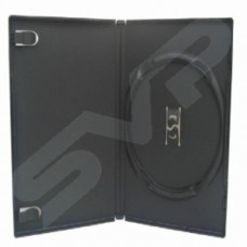 100x Single Black DVD/CD Cases 14MM