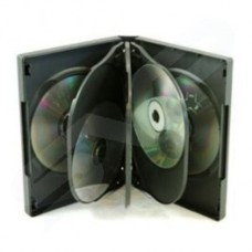 8 Way Black Storage DVD CD Cases - 27mm