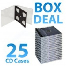 10.4mm Double Jewel Case with Black Inlay Tray - Box of 25