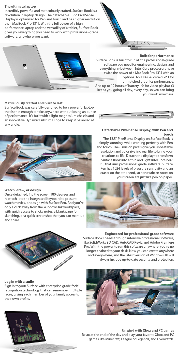 GradeB - MICROSOFT Surface Book with Performance Base